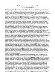 32. Sonntag im Jahreskreis, Lesejahr B 10. / 11. November 2012 Bei ...