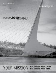 Forum2010AgendA - Commonfund
