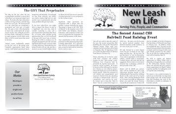New Leash on Life - Cherryland Humane Society