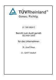Audit Bericht - Altenheim St. Josefhaus