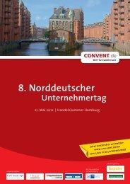 8. Norddeutscher Unternehmertag - Convent