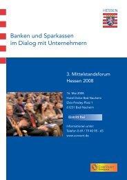 Banken und Sparkassen im Dialog mit Unternehmern - Convent
