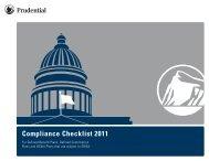 Compliance Checklist 2011 - Prudential Retirement