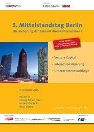 5. Mittelstandstag Berlin Die Sicherung der Zukunft Ihres ... - Convent