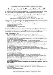 Benutzerordnung (pdf, 13 KB) - St. Josef - Grombühl
