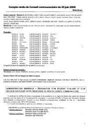 Comptes rendus réunion du : 25 juin 2009 à Maizières.