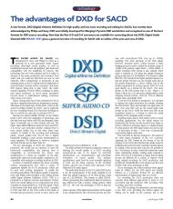The advantages of DXD for SACD