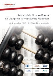 Sustainable Finance Forum - Convent