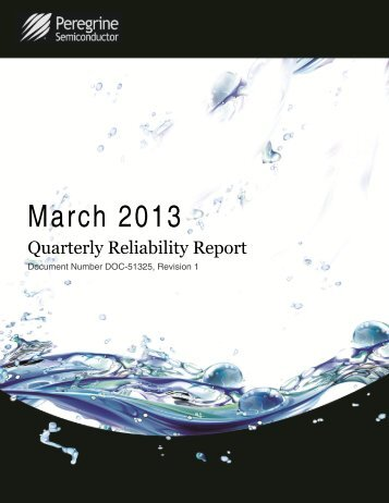 Quarterly Reliability Report - Peregrine Semiconductor