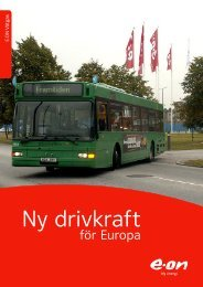Ny drivkraft för Europa - Vätgas - E-on