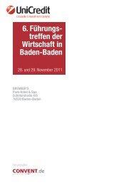 6. Führungs- treffen der Wirtschaft in Baden-Baden - Convent
