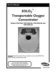 SOLO Transportable Oxygen Concentrator - Invacare