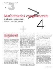 Mathematics conglomerate