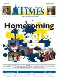 Issue 5 - Mount Mercy Times - Mount Mercy University