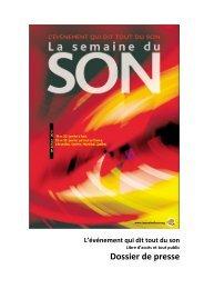 Dossier de presse complet 2011 - La Semaine du Son