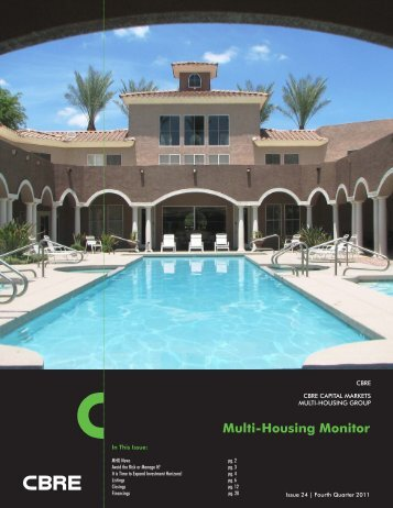 Multi-Housing Monitor - CBRE