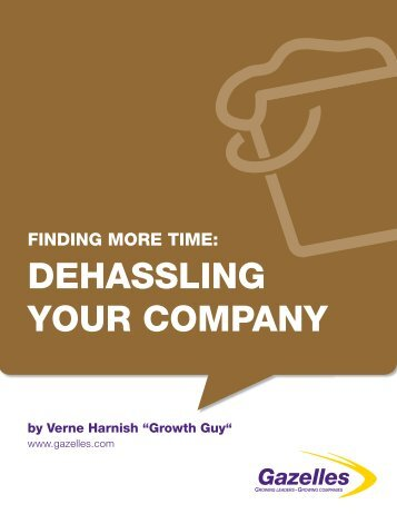 finding more time: dehassling your company - Gazelles