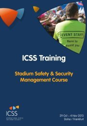 download the full brochure - International Centre for Sport Security