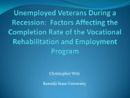 Unemployed Veterans During a Recession