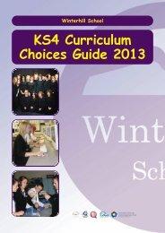 Curriculum choices booklet - Winterhill School