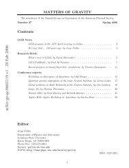 arXiv:gr-qc/0602119 v1 28 Feb 2006 - Department of Physics ...