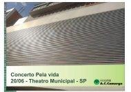 Concerto Pela vida 20/06 - Theatro Municipal - SP - Sincodiv SP