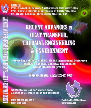 Recent Advances in Heat Transfer, Thermal Engineering ... - Wseas.us