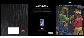 TAMKO® Waterproofing Brochure - Sweeney Materials