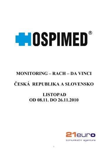 Monitoring KT 45, 46, 47 - Hospimed CZ