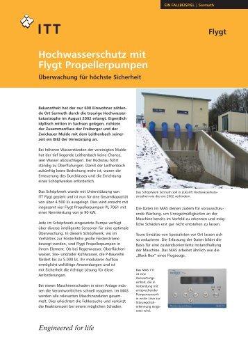 Hochwasserschutz mit Flygt Propellerpumpen