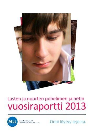 Lasten ja nuorten puhelimen ja netin raportti 2013