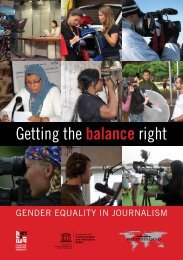 Getting the balance right: gender equality in journalism - Unesco