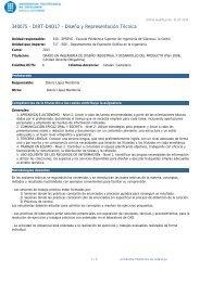Diseño y Representación Técnica - Campus de la UPC a Vilanova i ...