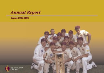 Annual Report - Queensland Cricket