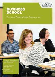 Part-time Postgraduate brochure - Oxford Brookes University ...