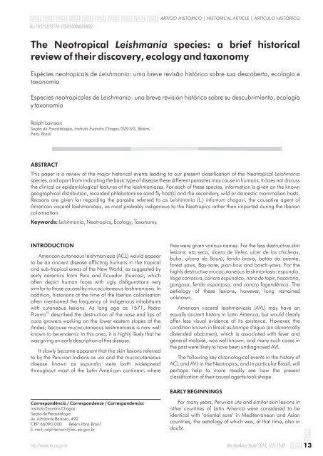 leishmaniasis agente causal
