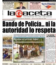 Sinaloa en primer lugar... - SEMANARIO LA GACETA