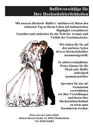 Hochzeit Buffet - PARTY - SERVICE Muth online...