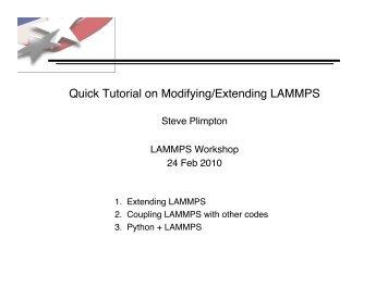 Lammps Manual Pressure