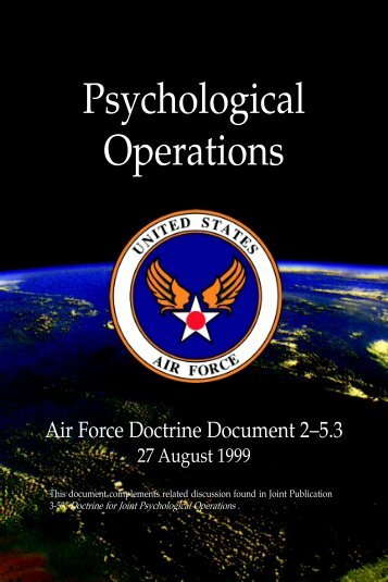 Afdd 2-5-3 psychological operations