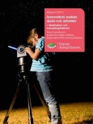 Rapport 2009:3 Samverkan mellan skola och arbetsliv - Skolverket