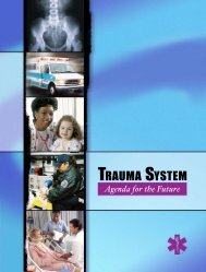 trauma system - NHTSA EMS