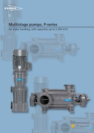 Multistage pumps, P-series