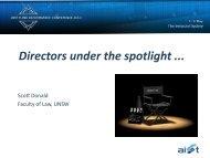 Directors under the spotlight