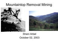 Mountaintop Removal Mining - Serendip