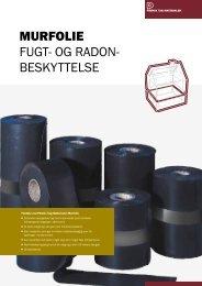 Murfolie Fugt- og radon- beskyttelse - Phønix Tag Materialer