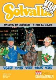 19 oktober - Solvalla