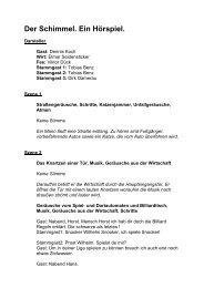 der_schimmel.pdf - Das Drehbuch in seiner nun ... - Koch, Dennis