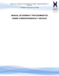 manual de normas y procedimiento sobre correspondencia y archivo