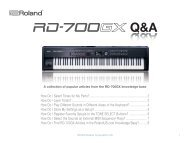 RD-700GX Q&A (PDF) - Roland UK